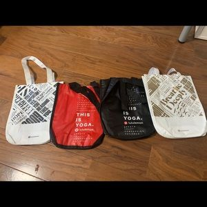 Brand new Lululemon bags set of 4